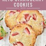 easy keto strawberry cookies