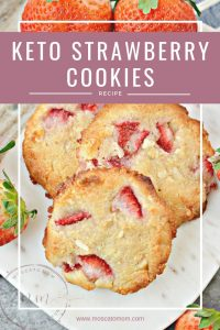 easy keto strawberry cookies