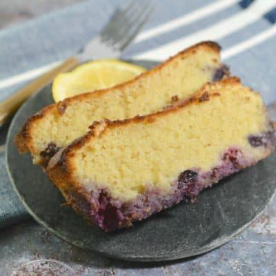 Keto Lemon Blueberry Bread