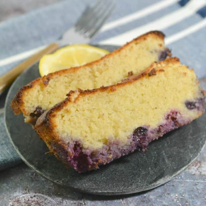 Keto Lemon Blueberry Bread