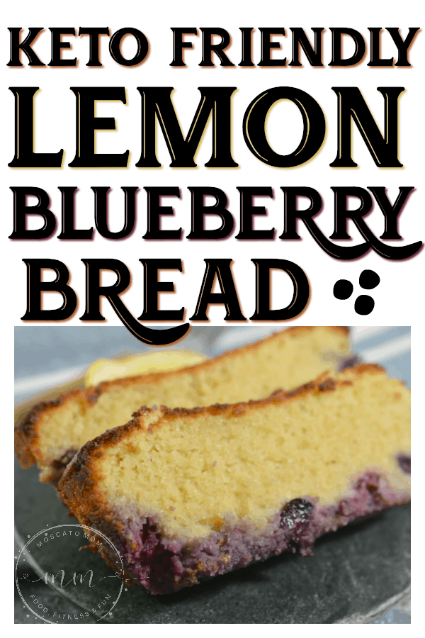 easy keto lomon blueberry bread