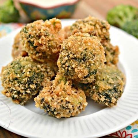 Low Carb Garlic Parmesan Broccoli Bites
