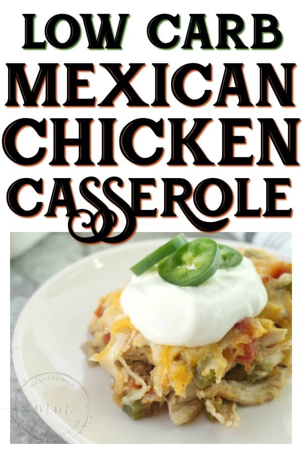 low carb mexican chicken casserole recipe