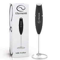 Milk Frother Handheld Drink Mixer Coffee Frother - Electric Milk Frother for Bulletproof Coffee & MCT Oil, Matcha Whisk, Latte Frother, Milk Foamer, Electric Frother Battery Operated Handheld Blender