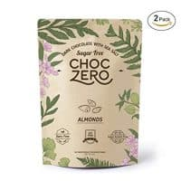ChocZero's Keto Bark, Dark Chocolate Almonds with Sea Salt.