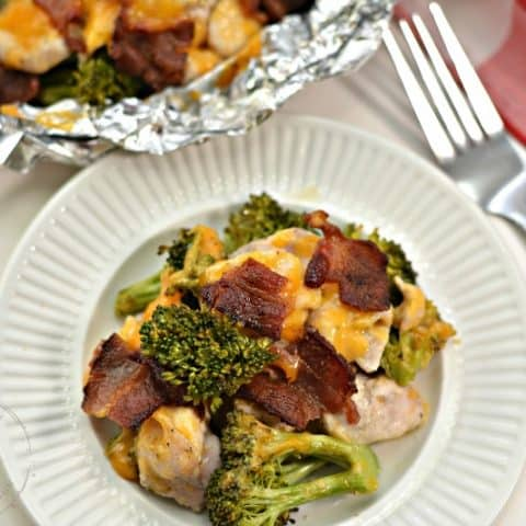 Cheesy Bacon Ranch Chicken Foil Packet Dinner