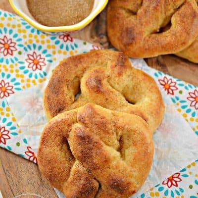 Cinnamon Sugar Keto Pretzels