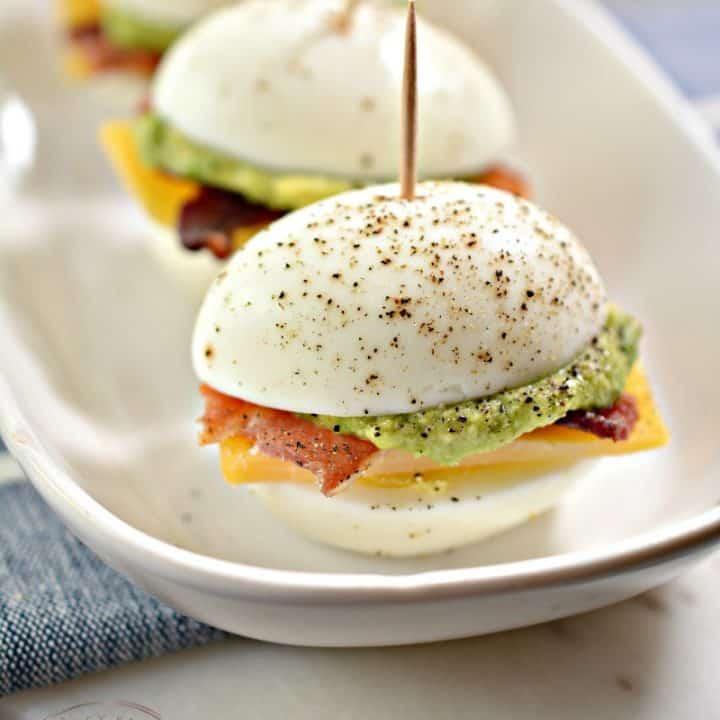 Keto Bacon, Egg, & Cheese Sliders