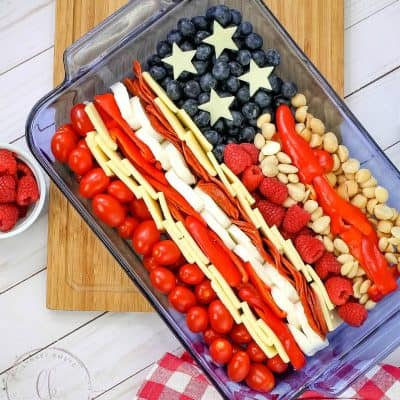 Keto 4th of July Cheese Tray