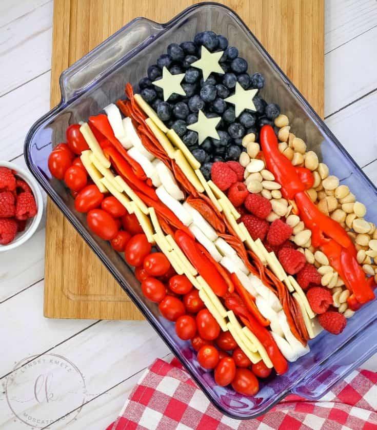 Keto Patriotic Cheese Tray