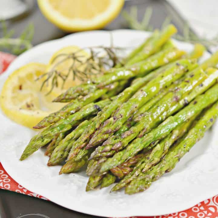 Keto Lemon Roasted Asparagus