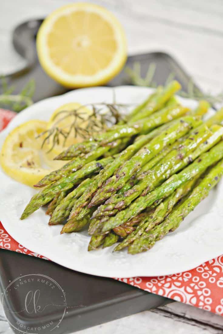 Keto Lemon Roasted Asparagus