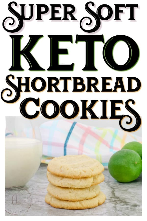 Keto Shortbread Cookies are made with four simple ingredients and stay soft for days! So delicious - they will cure your sweet tooth without blowing your macros!