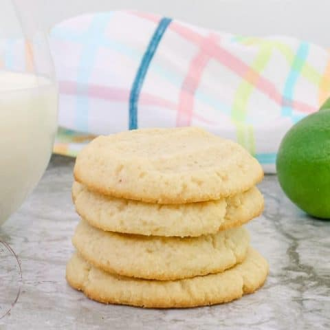 Key Lime Keto Shortbread Cookies