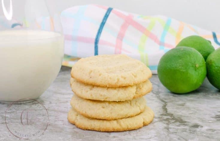 Key Lime Keto Shortbread Cookies