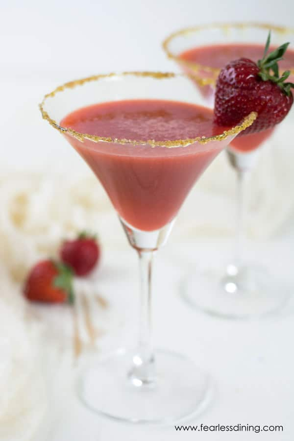 Honey Gin Strawberry Ginger Cocktails
