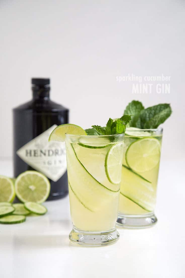 Sparkling Cucumber Mint Gin-The Little Epicurean