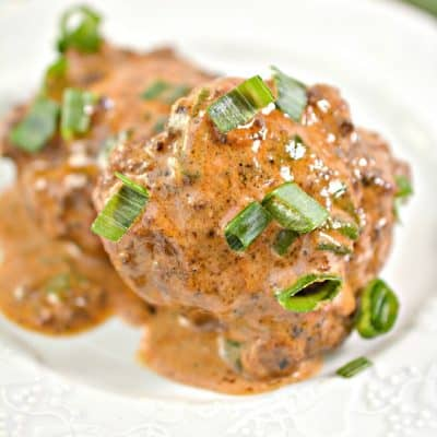 Keto Feta Stuffed Meatballs