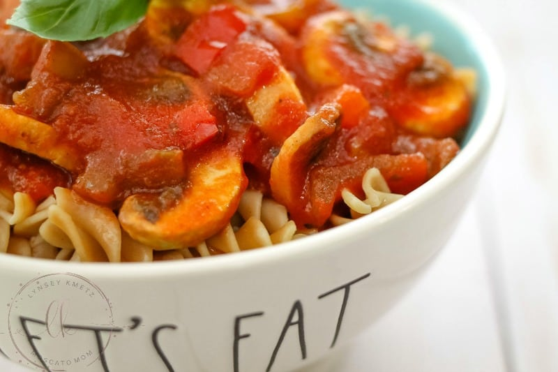 vegetable spaghetti sauce meatless monday meal ideas