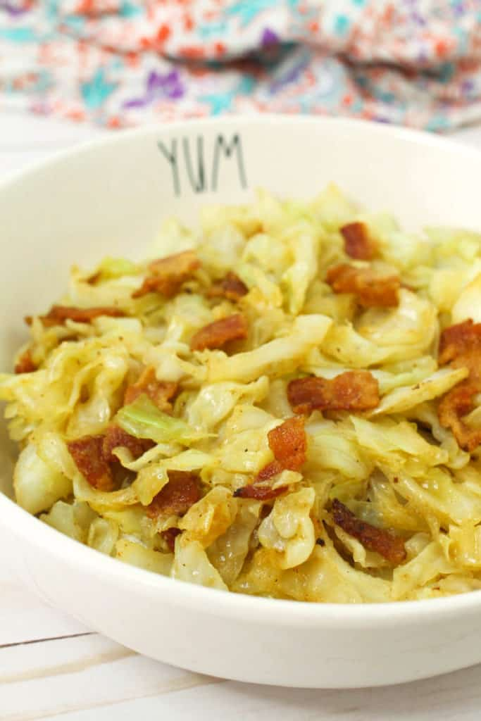 keto fried cabbage with bacon recipe