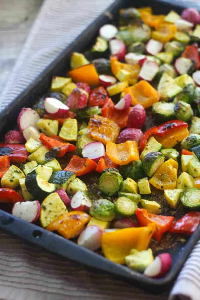 sheet pan low carb veggies