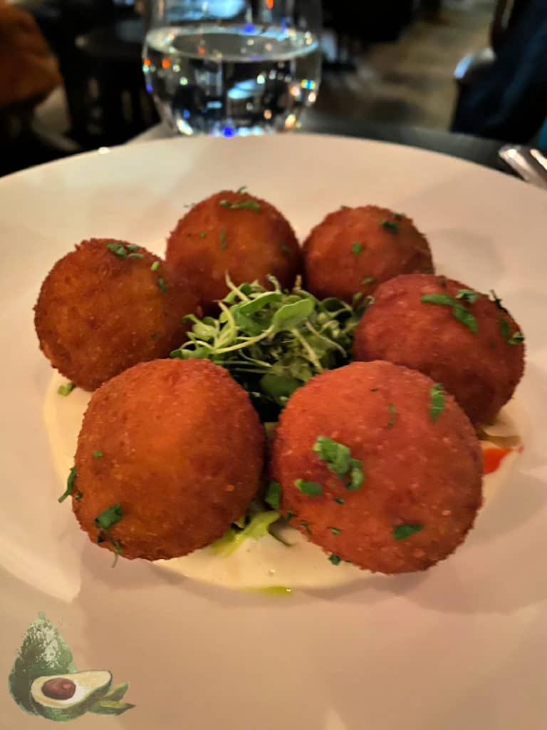 arancini balls from the clam nyc