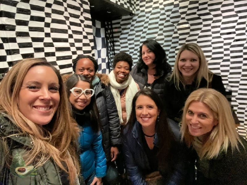 group of women at vandal nyc entry