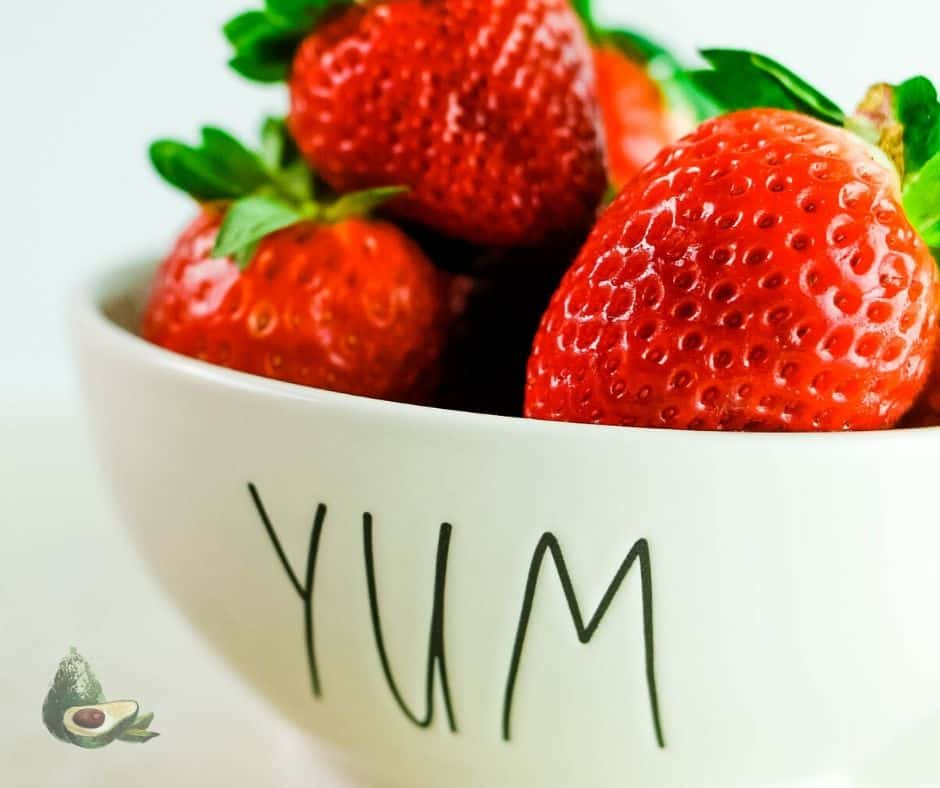 fresh strawberries in a yum bowl