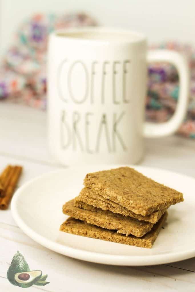 sugar free graham crackers with a coffee break mug