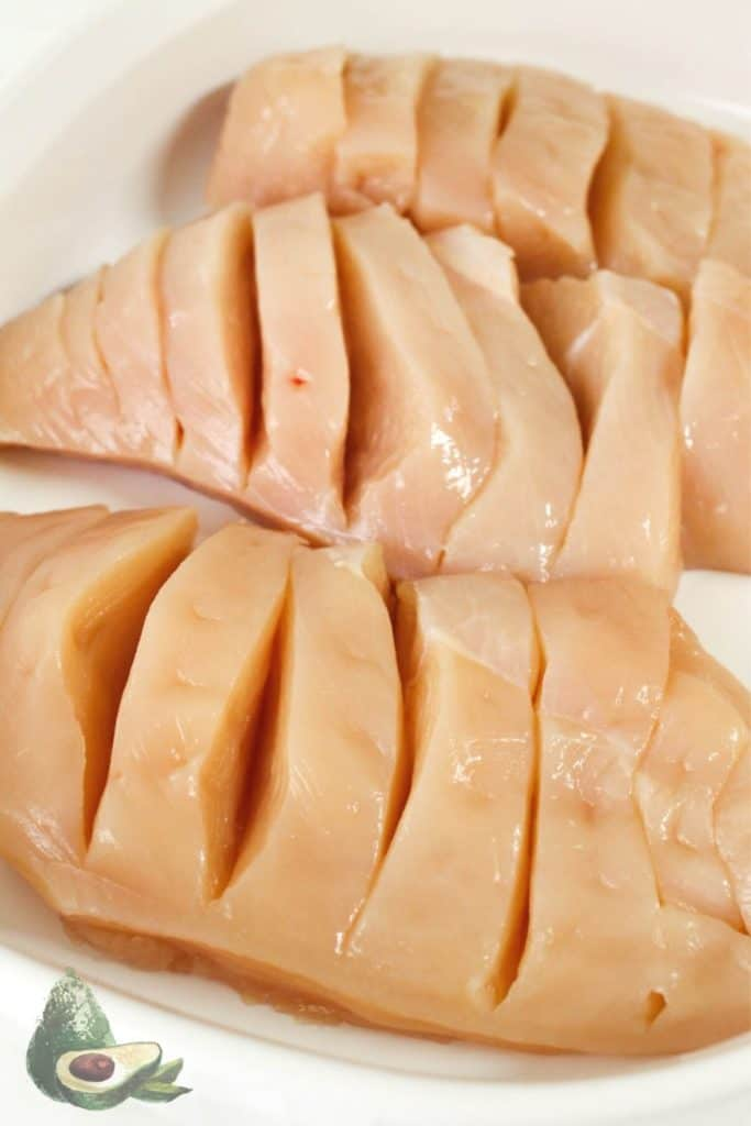 hasselback cut chicken breasts