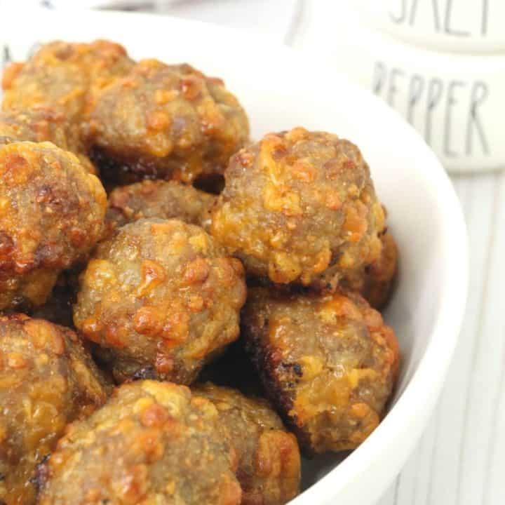 Cheesy Keto Sausage Balls
