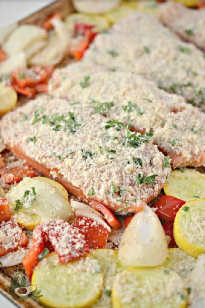 parmesan crusted salmon uncooked