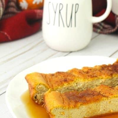 Keto Pumpkin Spice Egg Loaf
