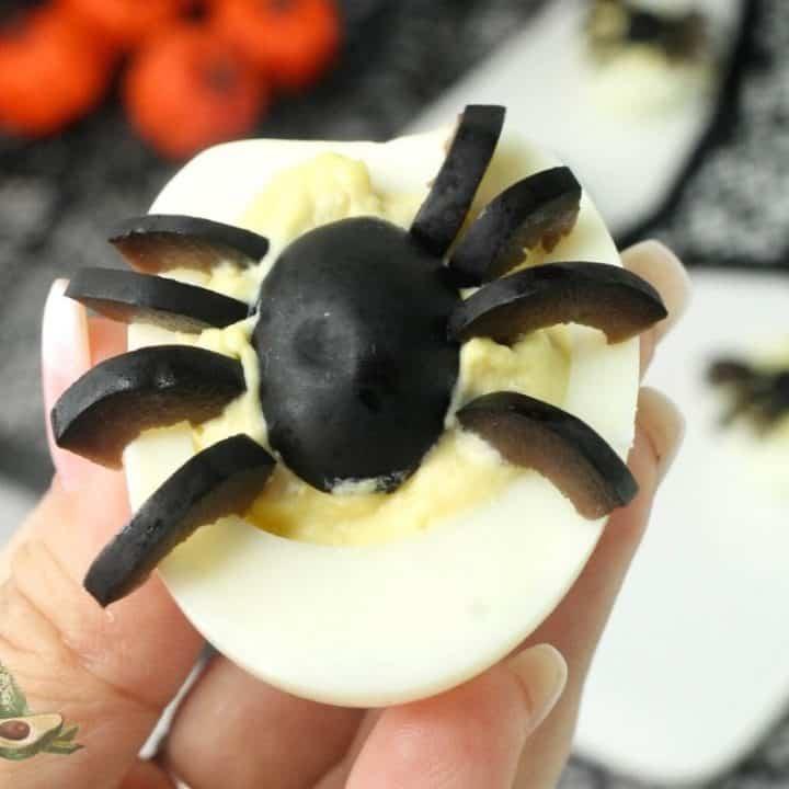 Halloween Spider Deviled Eggs