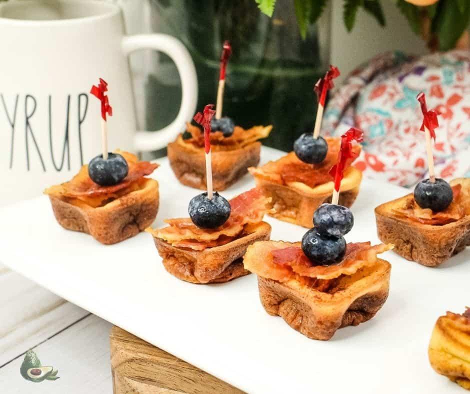 tray of keto breakfast appetizers