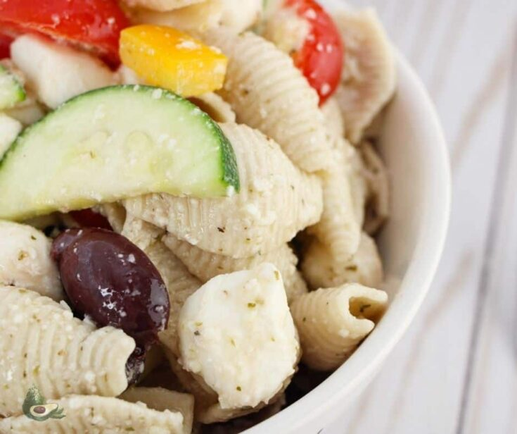 Keto Greek Salad with Low Carb Pasta